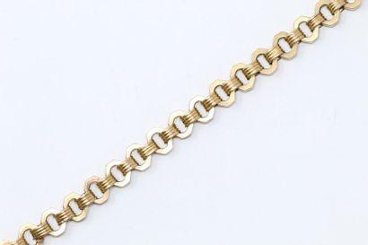 Débris de chaîne giletière en or jaune 18k...