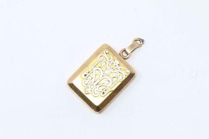 Pendentif porte-mèche en or jaune 18k (750),...