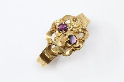 Bracelet ruban articulé en or jaune 18k (750)...