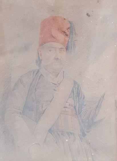 ECOLE XIXeme siècle  Portrait d'homme au...