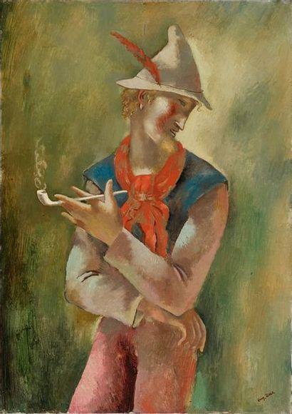 Eugène ZAK Eugène ZAK, 1884-1926  Homme avec une pipe, 1925  huile sur toile (petit...