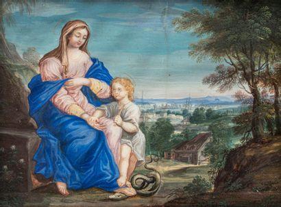 ECOLE FRANCAISE DU XVIIÈME SIECLE  La Vierge...