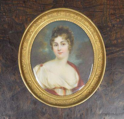 ECOLE FRANÇAISE DU XIXÈME SIECLE  Portrait...