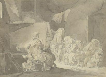 GREUZE JEAN-BAPTISTE (entourage de)  1725...