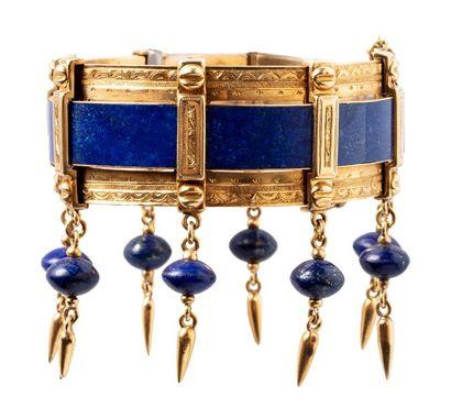 Bracelet semi rigide en or jaune 18K (750)...