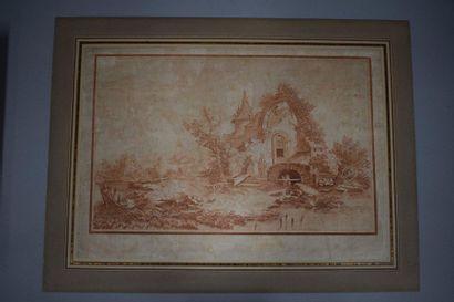 LESUEUR Louis  Paris 1746-1803    1 - Hameau...