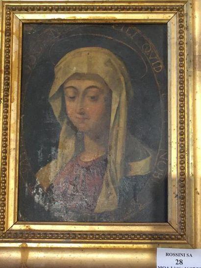 ECOLE FRANÇAISE Manière du XVII siècle Portrait...