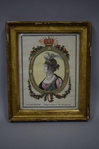 Joséphine Impératrice des Français, gravure...