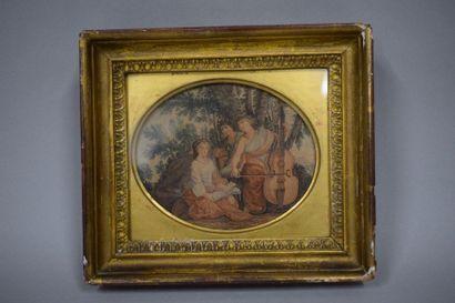 Les Muses Melpomene, Erato et Polyhymnia,...