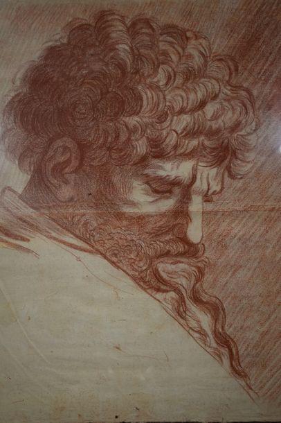 ECOLE FRANCAISE Fin du XVIIIe siècle    Etude...