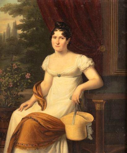 ECOLE FRANCAISE Premier Quart du XIXe siècle  Portrait présumé de Madame Anne Jean...