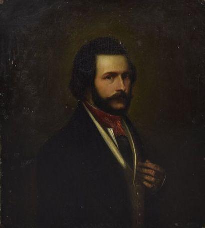 ECOLE FRANCAISE du XIXe siècle Portrait d'homme...