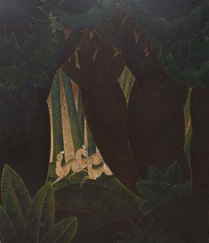 CHALLOU Jacques  Biches aux baobabs 1935...