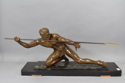 HUGONNET Pierre Chasseur au javelot, bronze...