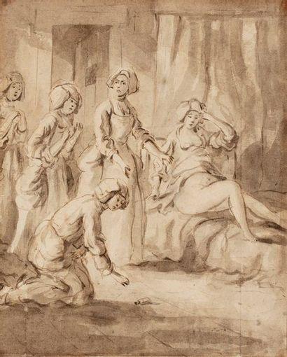 ECOLE FLAMANDE Dernier Tiers du XVIIIe siècle...