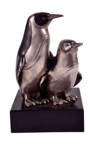 BOURAINE Marcel, 1886-1948  Couple de pingouins...