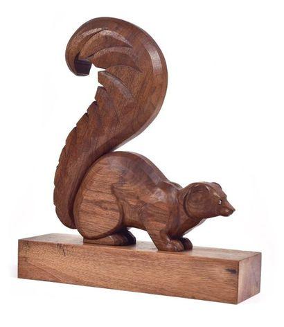Jean ROUPPERT (1887-1979)  Ecureuil. Sculpture...