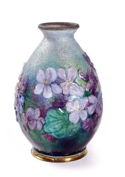 Camille FAURE (1874-1956)  Petit vase en...