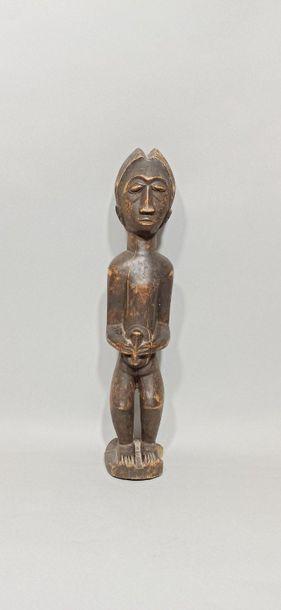 Statuette Baoulé, Côte d'Ivoire.  H.: 44,5...