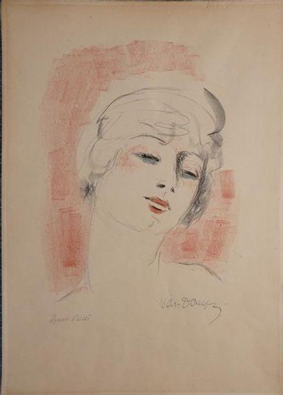 VAN DONGEN Kees, 1877-1968,  Jeune femme...