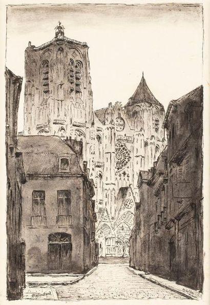 BASCOULARD Marcel, 1913-1978,  La cathédrale...