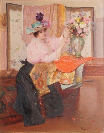 BELLET Pierre Auguste, 1865-1924,  Élégante...