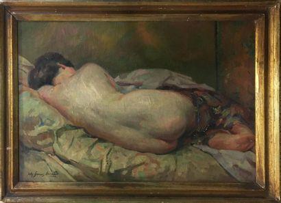 BERNARD Jules François, XXe siècle,  Odalisque...