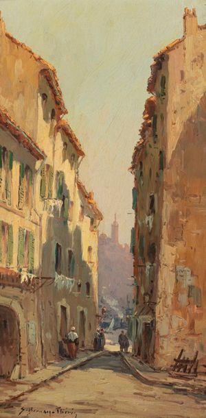 BERNAY-THERIC Sauveur, 1874-1963,  Le port...