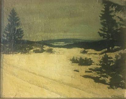 BUFFET-CHALLIÉ Jean-Laurent (1880-1943)  Paysage...
