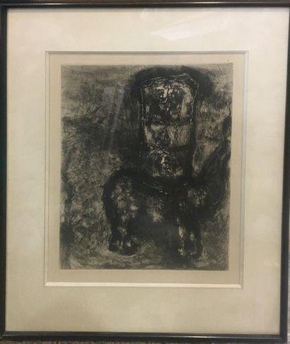 CHAGALL Marc, 1887-1985,  Le rat et l'éléphant,...