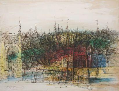 CARZOU Jean, 1907-2000,  La colline perdue,...
