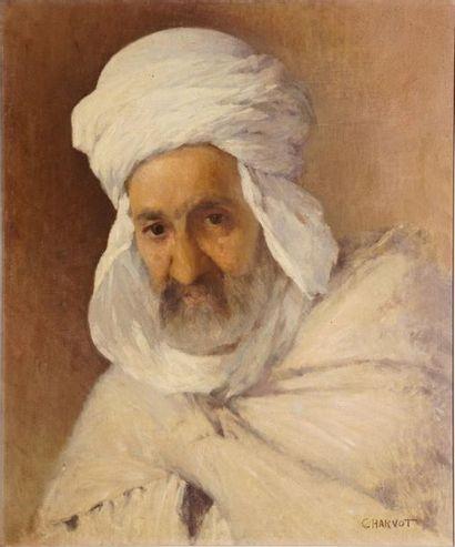 CHARVOT Eugène, 1847-1924,  Oriental au turban,...