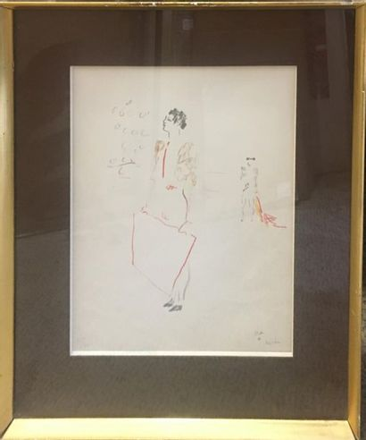 COCTEAU Jean (1889-1963) Torrero, Lithographie,...
