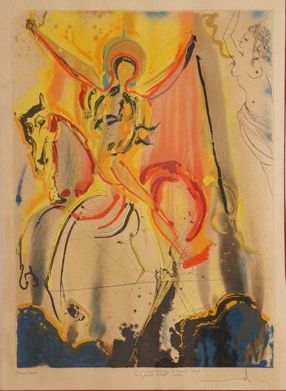 DALI Salvador, 1904-1989,  Cavalier triomphant,...