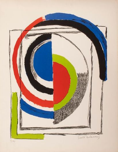DELAUNAY Sonia, 1885-1979,  A jour,lithographie...