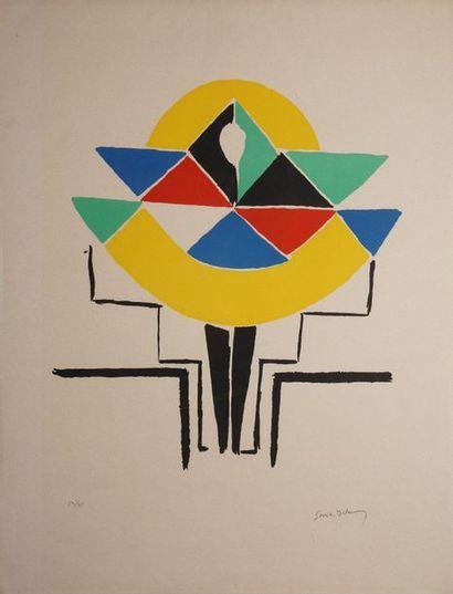 DELAUNAY Sonia, 1885-1979,  Figure colorée,...