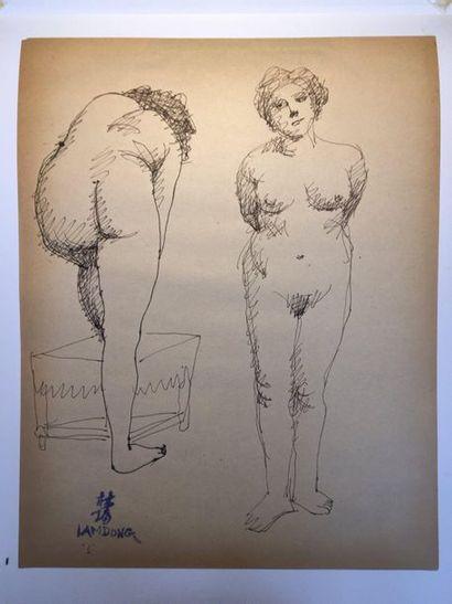 LAM-DONG (1920-1987)    Nus féminins et baigneuses...