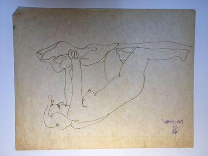 LAM-DONG (1920-1987)  Nus féminins,  Deux...