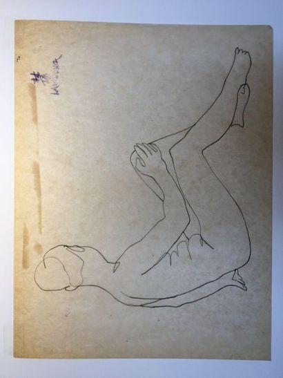LAM-DONG (1920-1987)  Nus féminins assis,...