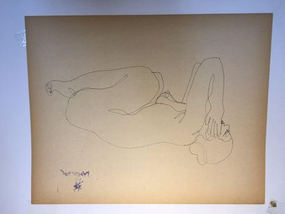 LAM-DONG (1920-1987)  Nus féminins,  Trois...