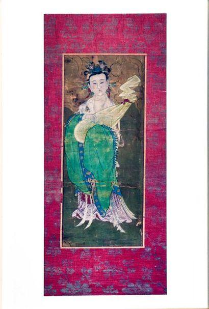 CHINE, Epoque MING (1368 - 1644)  Fragment...