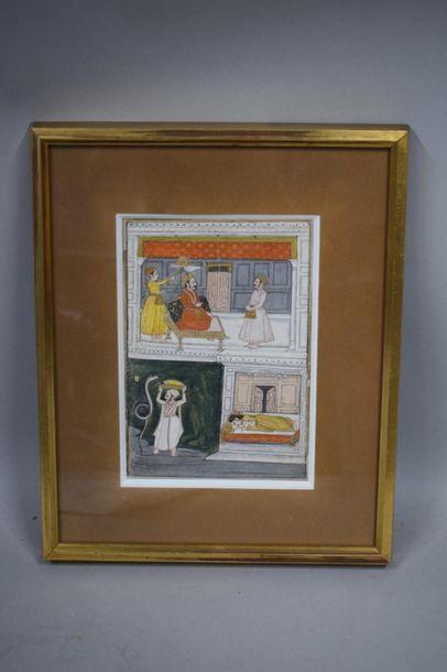INDE, Art de l' école de Pahari, XVIIIème...