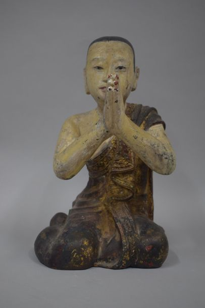 BIRMANIE, XIXème siècle  Disciple Moggalana...