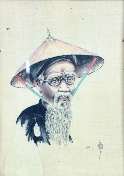 ANONYME, école de Gia Dinh  Portrait d'homme...