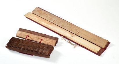 BIRMANIE, XIXème siècle  Deux livres de prières,...
