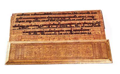 BIRMANIE, XIXème siècle  Livre de prières...
