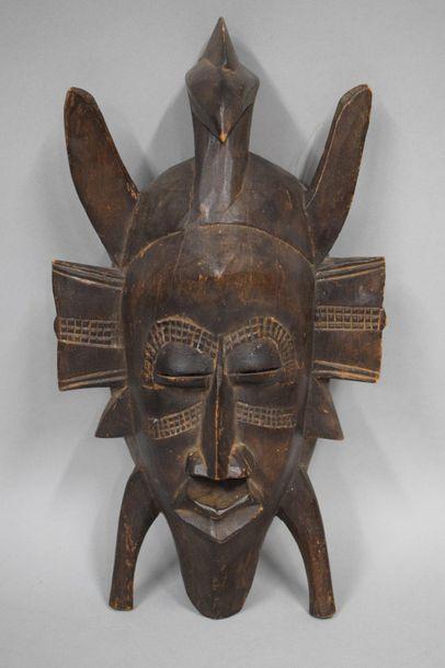 COTE D'IVOIRE, copie tardive Masque en bois...