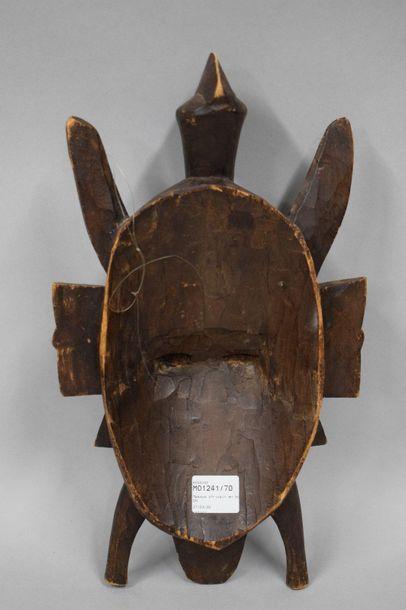 COTE D'IVOIRE, copie tardive Masque en bois sculpté, Sénoufo