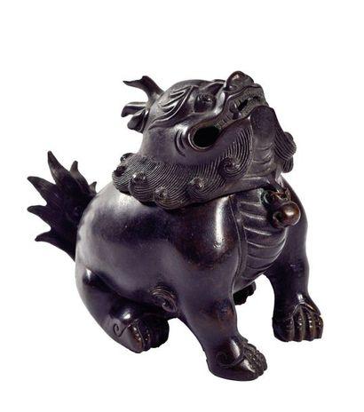 CHINE, Fin XIXème siècle  Brûle-parfum en...