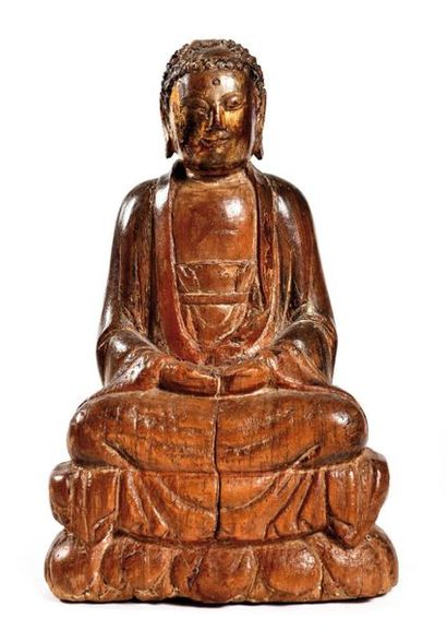 CHINE, Epoque MING (1368 - 1644)  Statuette...